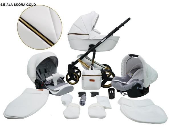 Детская универсальная коляска 2 в 1 Mikrus Comodo Gold 6