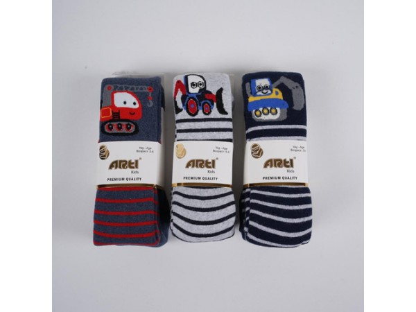 Детские колготы для мальчика - махровые ARTI_katamino арт. 350085