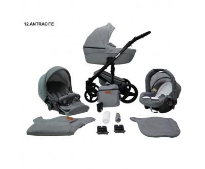 Детская универсальная коляска 2 в 1 Mikrus Comodo 12