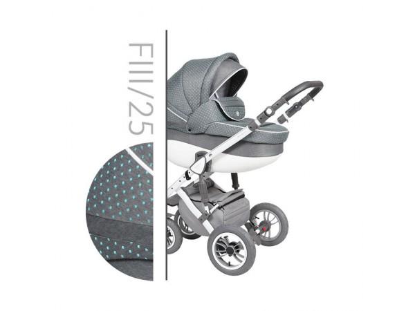 Детская универсальная коляска 2 в 1 Baby Merc Faster Style 3 Flll/25C