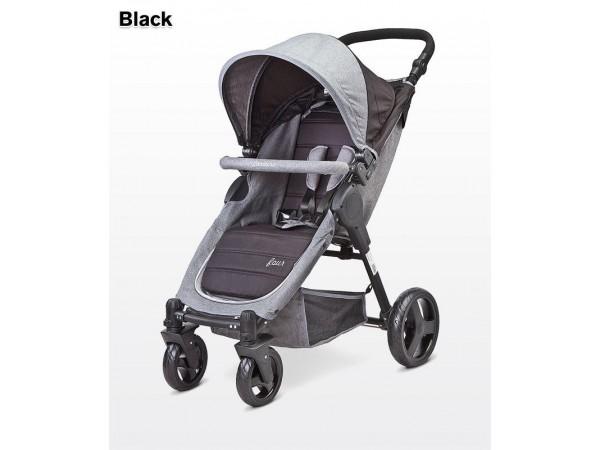 Детская прогулочная коляска Caretero Four black