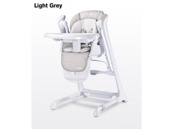 Детский стульчик для кормления + качель Caretero Indigo light grey