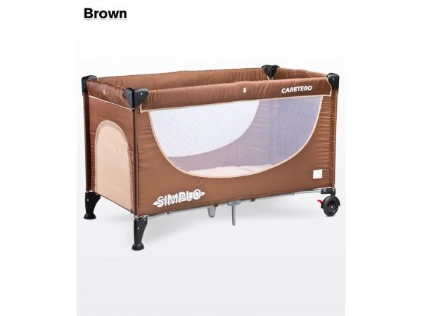 Детский манеж-кровать Caretero Simplo brown