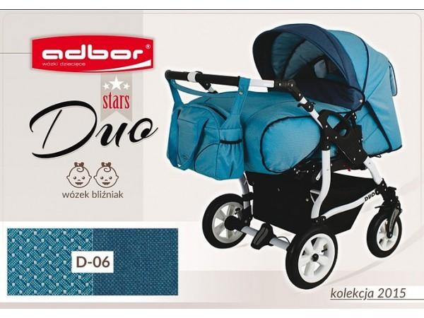 Детская коляска для двойни Adbor Duo stars D 06