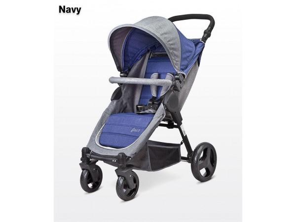 Детская прогулочная коляска Caretero Four navy