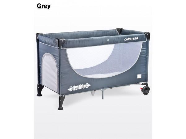 Детский манеж-кровать Caretero Simplo grey