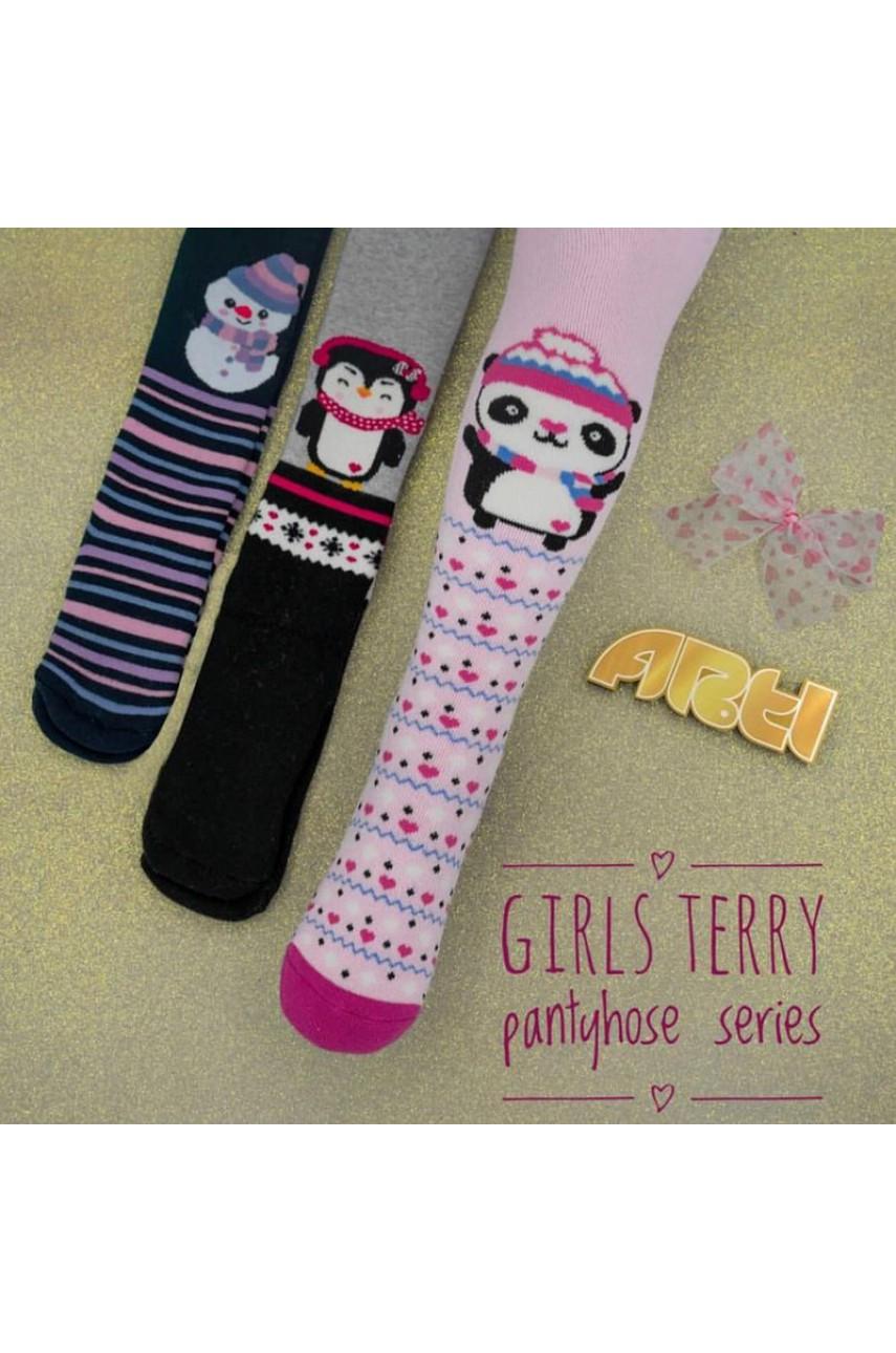 Детские колготы для девочки - махровые ARTI_katamino арт. 350061