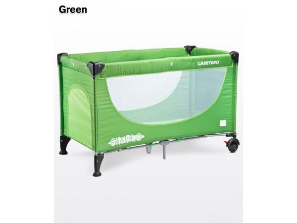 Детский манеж-кровать Caretero Simplo green