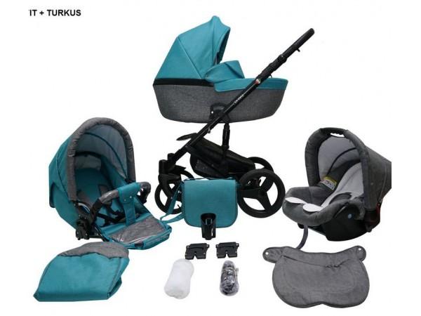 Детская универсальная коляска 2 в 1 Mikrus Genua 07