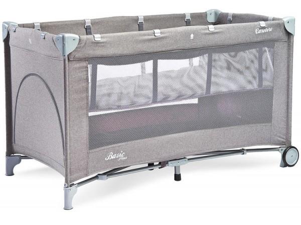Детский манеж-кровать Сaretero Basic Plus grey