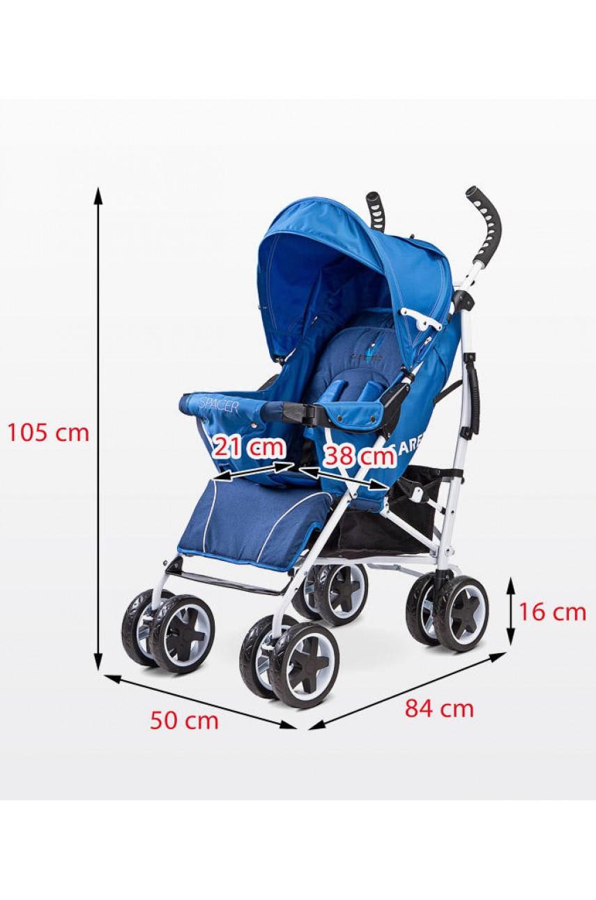 Детская прогулочная коляска Caretero Spacer navy