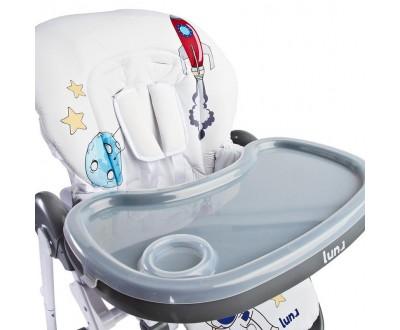 Детский стульчик для кормления Caretero Luna grey