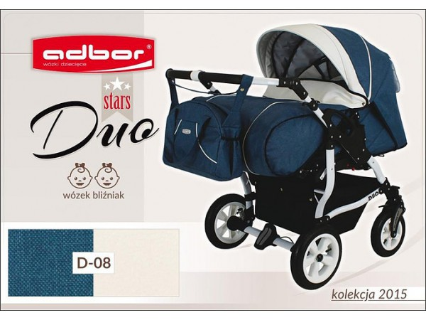 Детская коляска для двойни Adbor Duo stars D 08