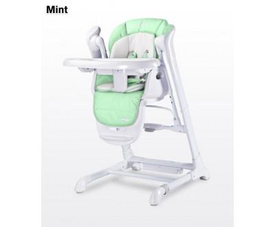 Детский стульчик для кормления + качель Caretero Indigo mint