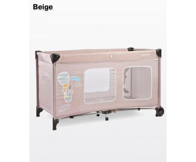Детский манеж-кровать Simplo Plus beige