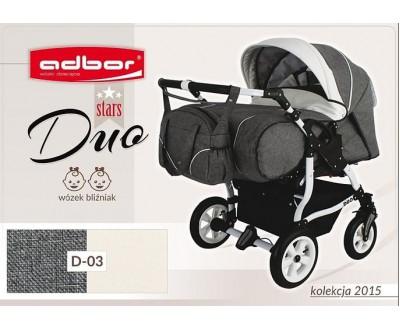 Детская коляска для двойни Adbor Duo stars D 03