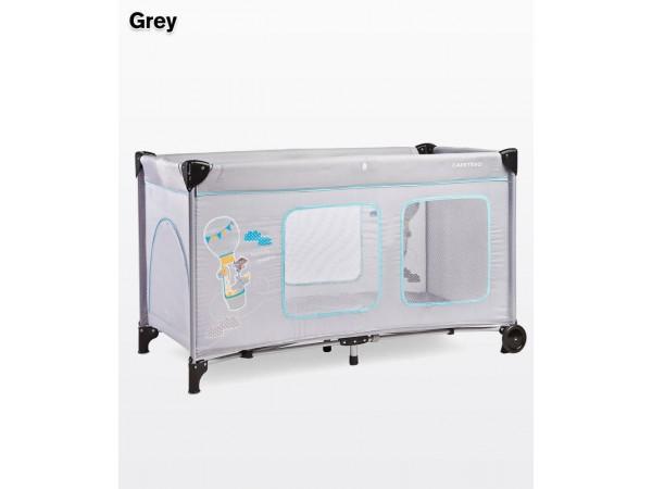 Детский манеж-кровать Simplo Plus grey