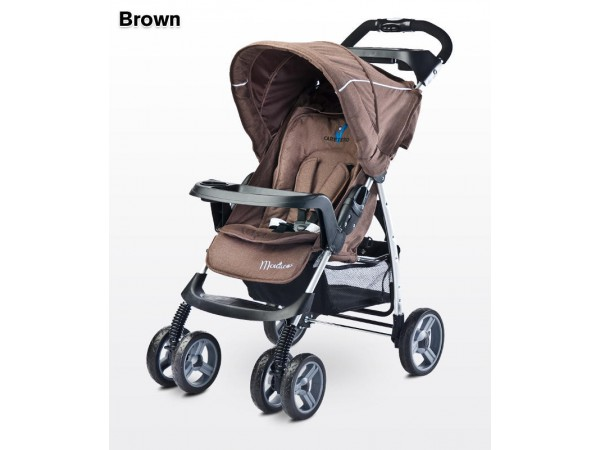 Детская прогулочная коляска Caretero Monaco brown