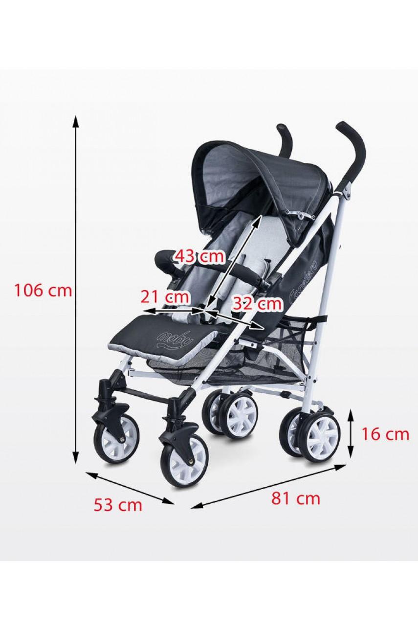 Детская прогулочная коляска Caretero Moby grey
