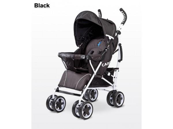 Детская прогулочная коляска Caretero Spacer black