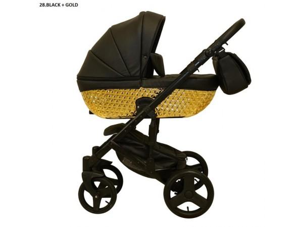 Детская универсальная коляска 2 в 1 Mikrus Specchio 28