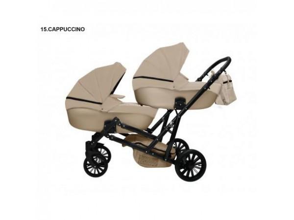 Детская коляска для двойни MIKRUS GEMELLO 15