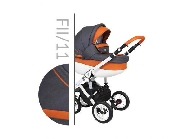 Детская универсальная коляска 2 в 1 Baby Merc Faster Style 2 Fll/11C