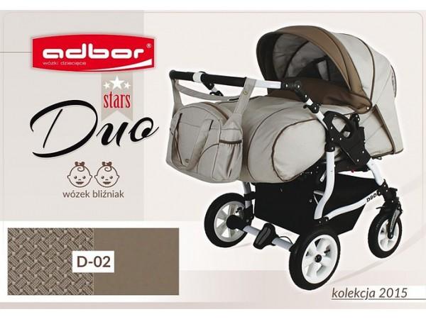 Детская коляска для двойни Adbor Duo stars D 02