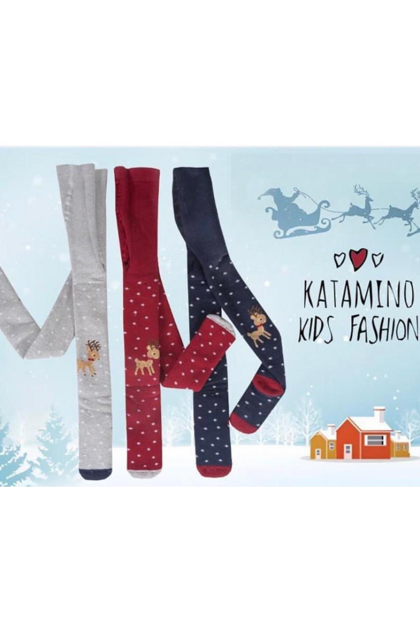 Детские колготы для девочки - махровые ARTI_katamino арт. 350049