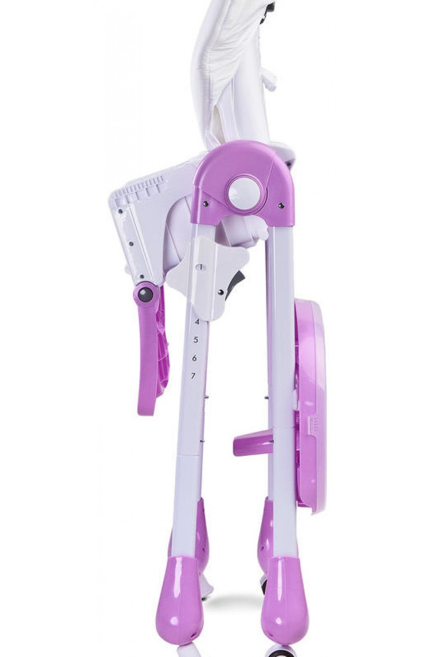 Детский стульчик для кормления Caretero Luna pink