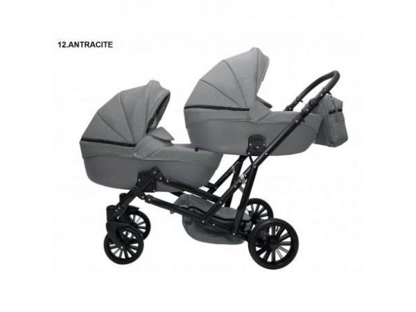 Детская коляска для двойни MIKRUS GEMELLO 12
