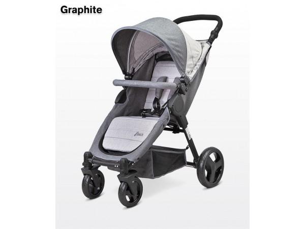 Детская прогулочная коляска Caretero Four graphite