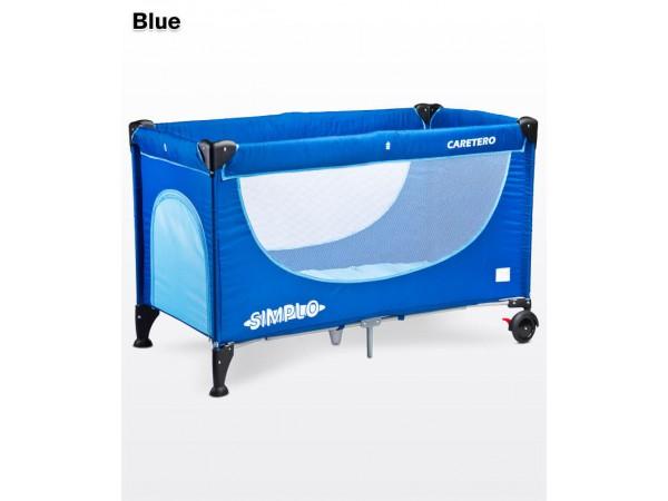 Детский манеж-кровать Caretero Simplo blue