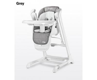Детский стульчик для кормления + качель Caretero Indigo grey