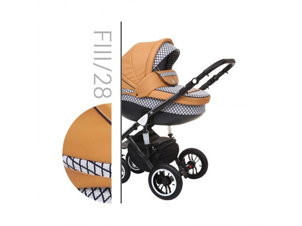 Детская универсальная коляска 2 в 1 Baby Merc Faster Style 3 Flll/28B
