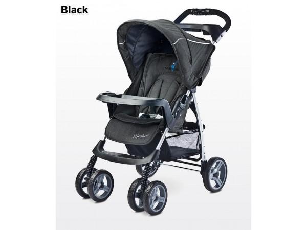 Детская прогулочная коляска Caretero Monaco black