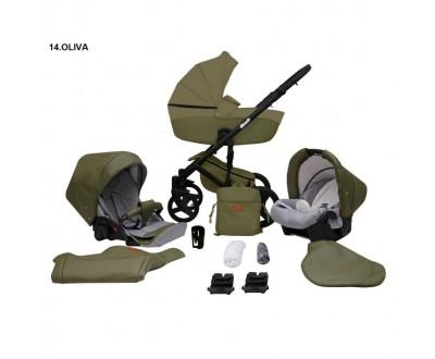 Детская универсальная коляска 2 в 1 Mikrus Comodo 14