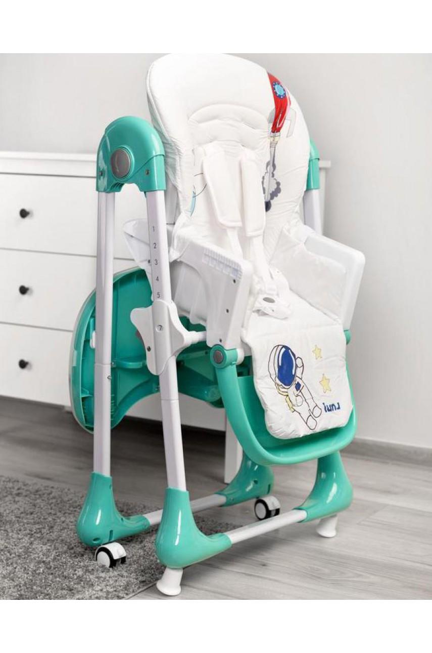 Детский стульчик для кормления Caretero Luna mint
