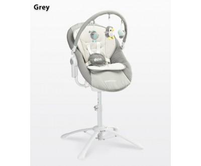 Детская качель, шезлонг, стульчик для кормления Caretero Kivi 3 в 1 grey