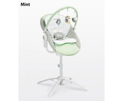 Детская качель, шезлонг, стульчик для кормления Caretero Kivi 3 в 1 mint