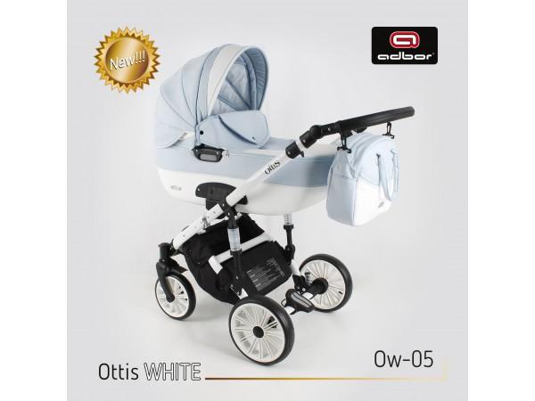 Детская универсальная коляска 2 в 1 Adbor Ottis White OW 05